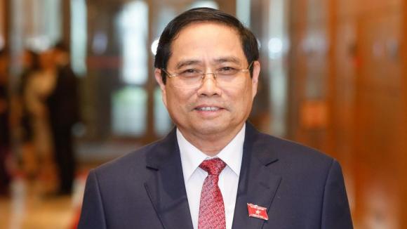Ông Phạm Minh Chính tại Quốc hội /// ẢNH Gia Hân