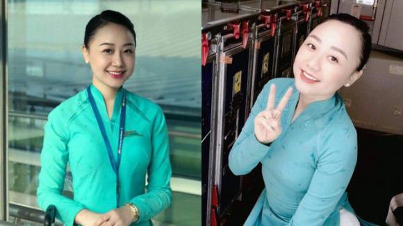 Nữ tiếp viên hàng không Bích Hường khi chưa bị tai nạn /// ẢNH: NVCC