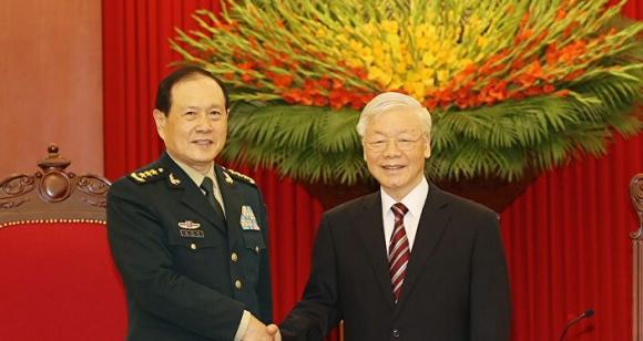 Tổng Bí thư Nguyễn Phú Trọng, Bí thư Quân ủy Trung ương tiếp Bộ trưởng Bộ Quốc pʜòng Trung Quốc Ngụy Phượng Hòa