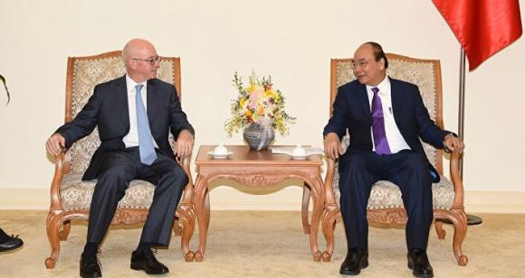 Thủ tướng tiếp Trưởng Đại diện thường trú của Văn phòng Quỹ Tiền tệ Quốc tế (IMF) tại Việt Nam.