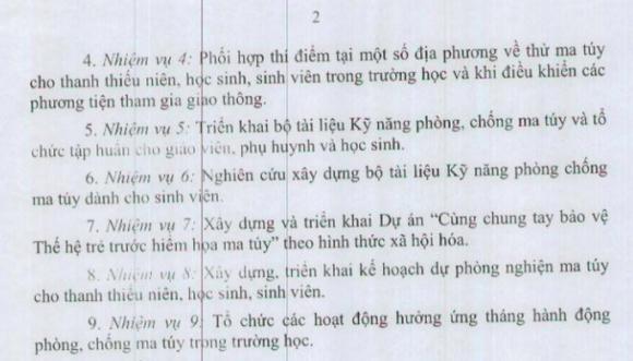 Bộ GD-ĐT ra văn bản không thể tin nổi: Phối hợp thí điểm thử ma túy cho học sinh, sinh viên trong trường học - Ảnh 2.