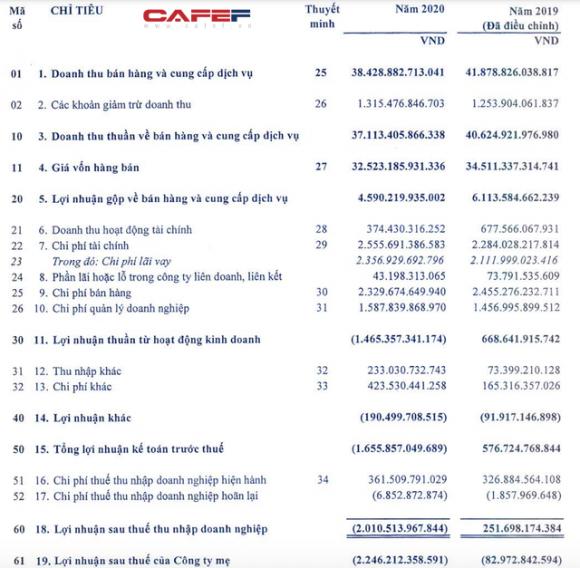 Vinachem lỗ hơn 2.000 tỷ sau thuế năm 2020, mỗi ngày oằn lưng trả lãi 7,3 tỷ đồng gánh nặng công ty con, kiểm toán ngoại trừ hàng loạt - Ảnh 1.