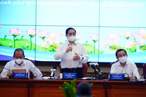 Thủ tướng Phạm Minh Chính phát biểu tại buổi làm việc. Ảnh: Phạm Nguyễn