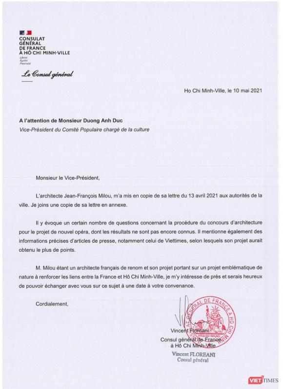 Về cuộc thi thiết kế Nhà hát ngàn tỉ, Tổng Lãnh sự quán Pháp gửi công hàm tới UBND TP.HCM ảnh 2