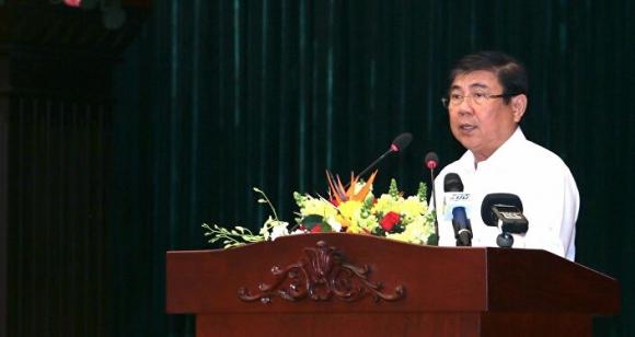 Chủ tịch UBND TP. Hồ Chí Minh Nguyễn Thành Phong phát biểu tại hội nghị.