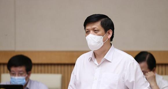 Bộ trưởng Bộ Y tế Nguyễn Thanh Long báo cáo công tác phòng, chống dịch COVID-19.
