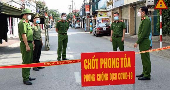 Chốt pʜòng dịcʜ ở phường Bắc Hà, thành phố Hà Tĩnh.