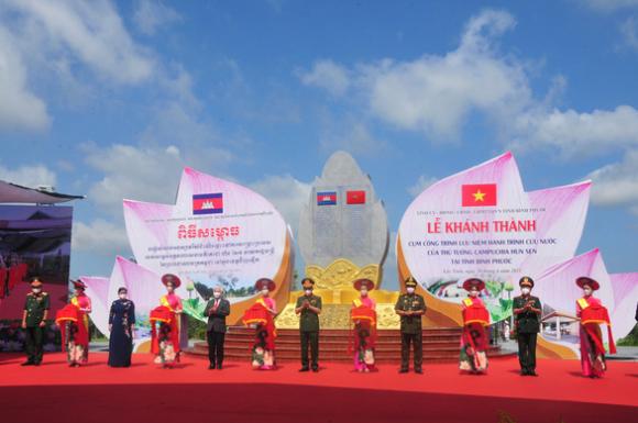 Khánh thành cụm công trình lưu niệm hành trình cứu nước của Thủ tướng Campuchia Hun Sen - Ảnh 1.