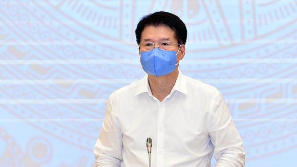 Thứ trưởng Bộ Y tế Trương Quốc Cường tại buổi họp báo chiều 3.6 /// Ảnh N.Bắc