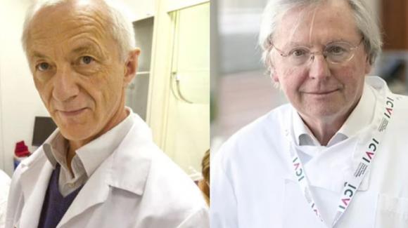 Hai chuyên gia Giáo sư Angus Dalgleish (Phải) và Birger Sorensen (trái). Ảnh: Đông Phương.