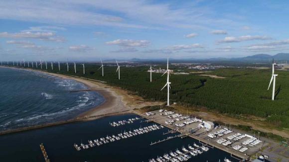 Nhà máy điện gió lớn nhất Đông Nam Á xây dựng tại Lào của Mitsubishi sẽ bán điện cho Việt Nam - Ảnh 1.