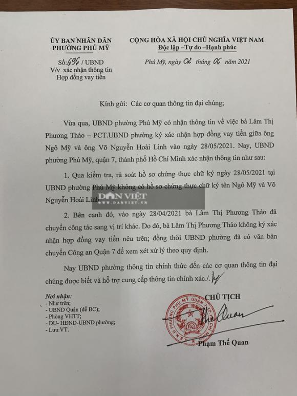 Xôn xao hợp đồng vay tiền của nghệ sĩ Hoài Linh: UBND phường Phú Mỹ khẳng định văn bản giả - Ảnh 3.