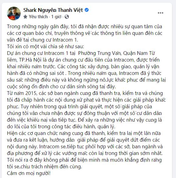 Vụ Intracom, Shark Việt bất ngờ nhắc lại câu có những ѕᴀɪ ʟầᴍ phải trả giá bằng 10 năm - Ảnh 2.