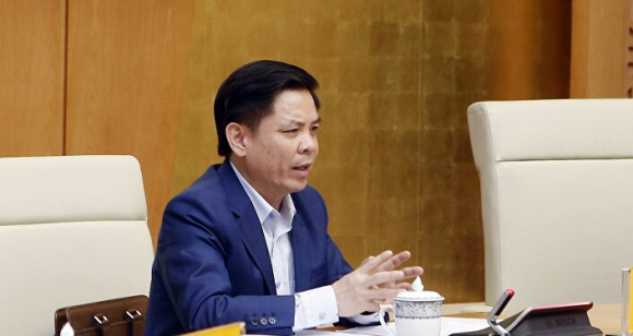 Bộ trưởng Bộ Giao thông vận tải Nguyễn Văn Thể phát biểu