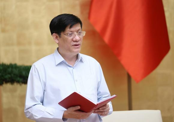 Bộ trưởng Bộ Y tế Nguyễn Thanh Long báo cáo tình hình, diễn biến dịch COVID-19 tại Thành phố Hồ Chí Minh.