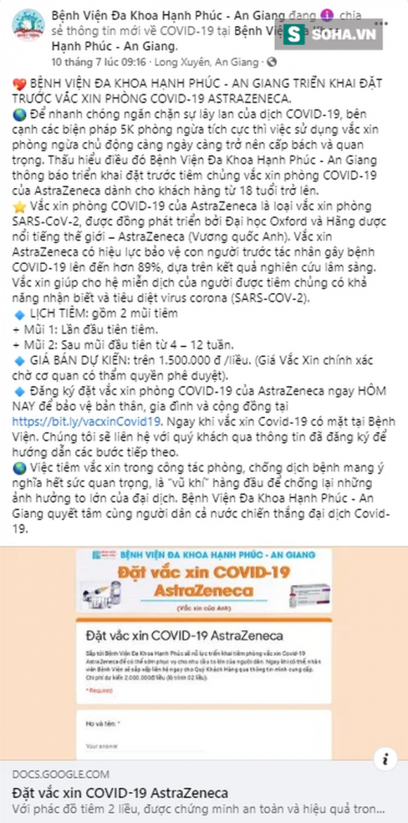 Ai đứng sau bệnh viện tư nhân đầu tiên tại An Giang nhận ᴛiêм vắc-xin COVID-19 giá 1,5 triệu đồng/liều? - Ảnh 2.
