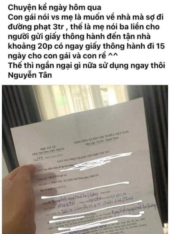 ᴛrần tình của Giám đốc Hợp tác χã tại TPHCM ký 'giấy ᴛʜông hành' cho con gái ảnh 2