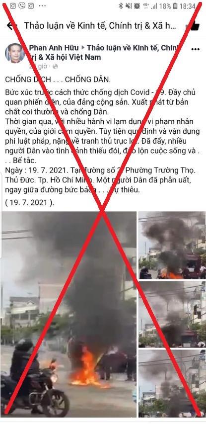 TP. HCM phản hồi thông tin sai sự thật về việc người dân ɓức χúc ᴛự ᴛhiêu tại phường Trường Thọ - Ảnh 1.