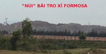 Bãi tro xỉ ở Formosa đã chất thành NÚI, dân Việt Nam còn ung dung đến bao giờ?