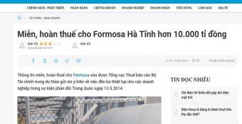 Cớ sao mãi dung t úng cho Formosa t àn ph á Việt Nam?