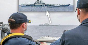 """Không thấy bẽ mặt, TQ tự tin tôn vinh bức ảnh chỉ huy Mỹ ung dung gác chân """"ngắm"""" tàu Liêu Ninh: Bắc Kinh có ý gì?"""